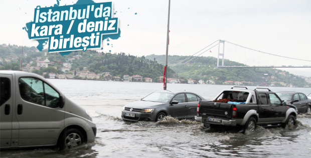 İstanbul'da deniz ve kara yine birleşti