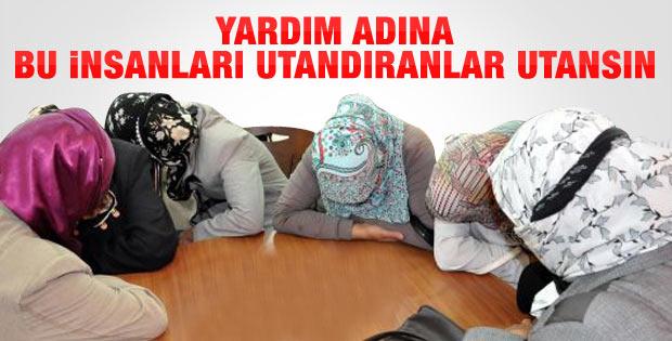 Erzurum'da utandıran yardım