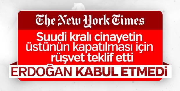 New York Times: Erdoğan siyasi rüşveti reddetti