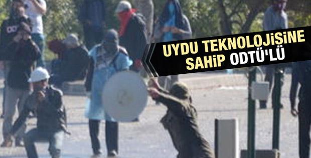 ODTÜ'lü öğrenci uydu antenini kalkan olarak kullandı