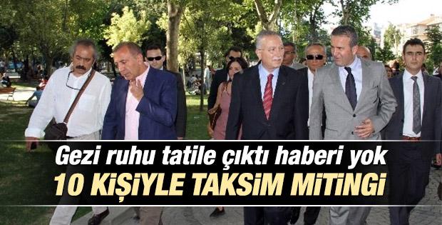Ekmeleddin İhsanoğlu'ndan Taksim ziyareti