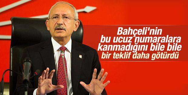 Kılıçdaroğlu Bahçeli'ye yeni teklifle gidiyor