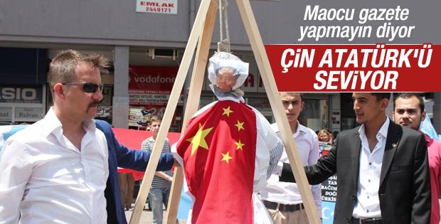 Mao kuklası yakan ülkücülere Aydınlık gazetesi tepkili