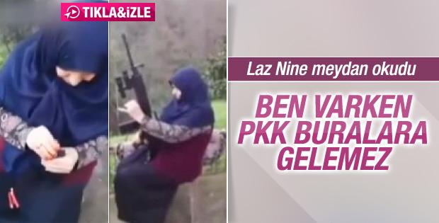 Laz Nine uzun namlulu silahla ateş etti