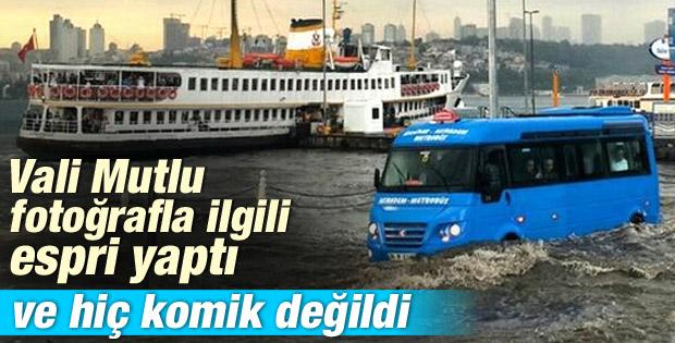 İstanbul Valisi Mutlu'dan sağanak sonrası Üsküdar geyiği