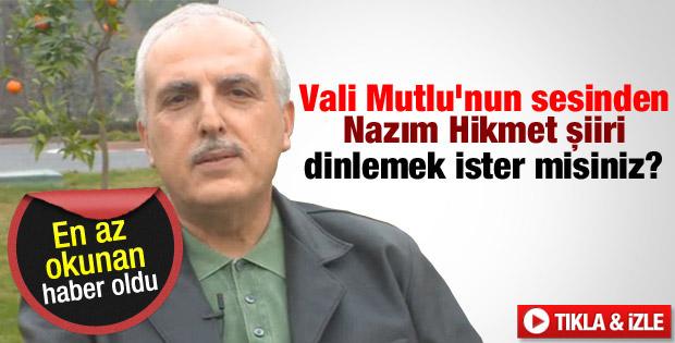 İstanbul Valisi Mutlu'dan Nazım Hikmet'e şiirli anma