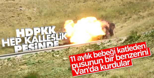 Van'da yola tuzaklanan bomba tespit edildi