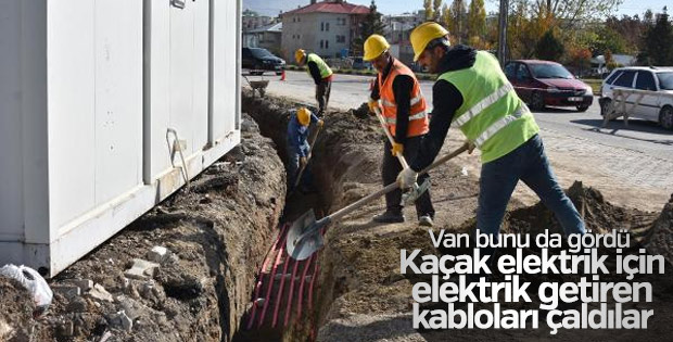 Van'da 200 bin TL'lik bakır kablo çalındı