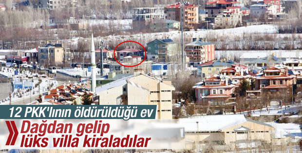 Van'da PKK'lılar villa kiraladı