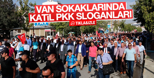 Van'da PKK protestosu