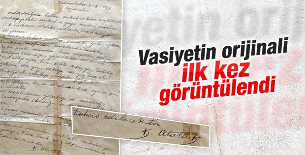 Atatürk'ün vasiyetnamesinin orijinali görüntülendi