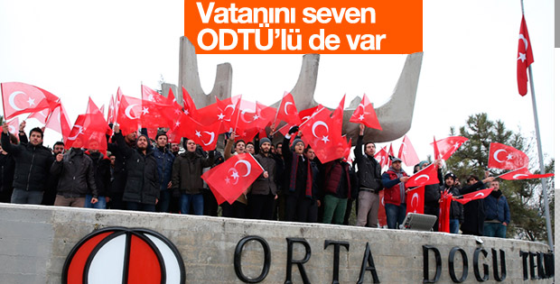 ODTÜ'de teröre karşı protesto