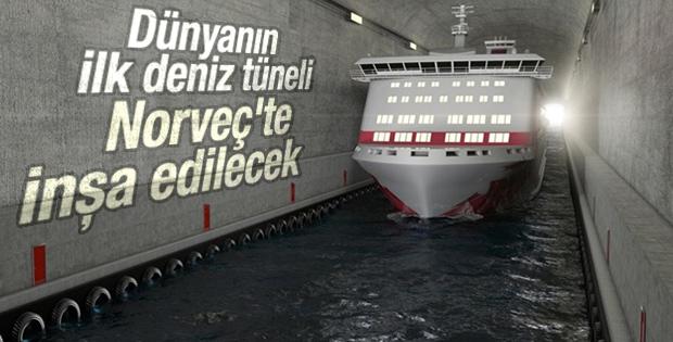 Dünyanın ilk deniz tüneli Norveç'te inşa edilecek