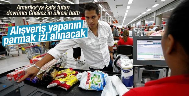 Venezuela'da market alışverişinde parmak izi verilecek