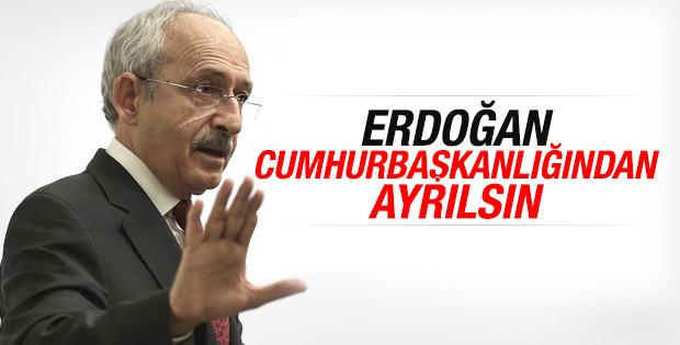 Kılıçdaroğlu Erdoğan'ın görevinden ayrılmasını istedi