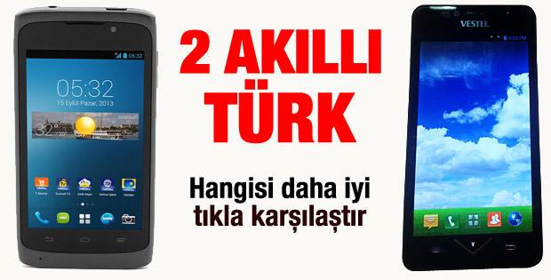 Vestel ve Turkcell akıllı telefonları karşılaştırması