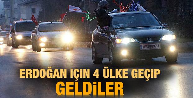 Viyana'dan yola çıkan Milli İrade Konvoyu Türkiye'de
