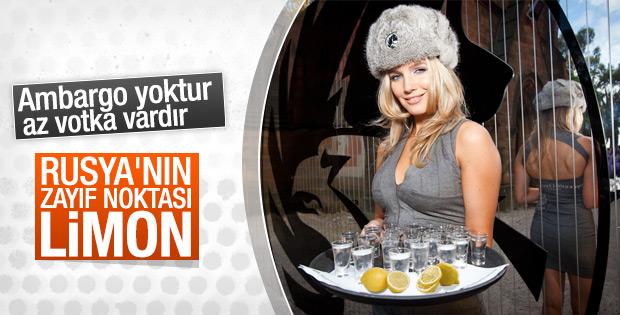 Rusların limonu liste dışı bırakmasının sebebi; Votka