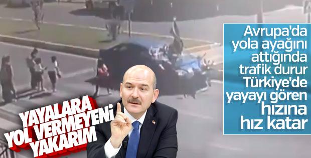 Süleyman Soylu trafikte yaya kanunu duyurdu