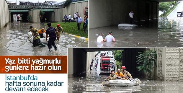 İstanbul'da yağışlar hafta sonuna kadar devam edecek