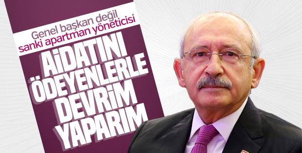 Kılıçdaroğlu aidatını düzenli ödeyenlerle devrim yapacak