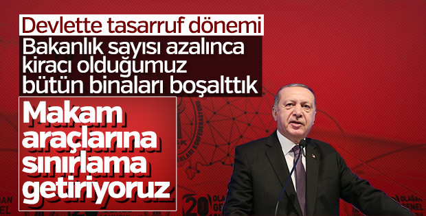 Başkan Erdoğan açıkladı: Devlette israfa son