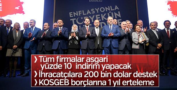 Bakan Albayrak enflasyonla mücadele tedbirlerini açıkladı