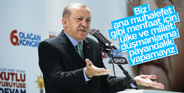 Cumhurbaşkanı Erdoğan: Biz düşmanla payandalık yapamayız