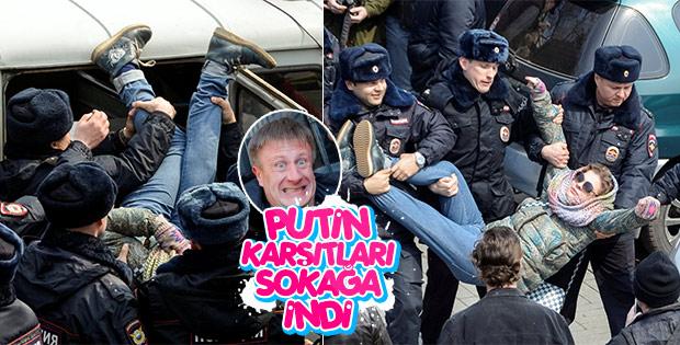 Rusya'nın muhalif lideri gözaltına alındı