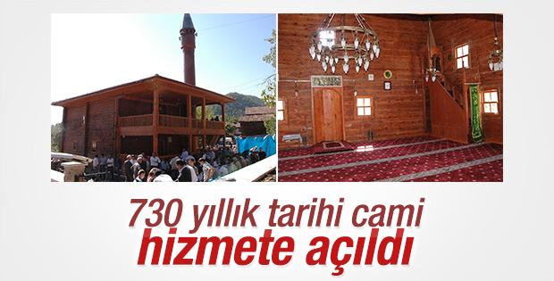 730 yıllık tarihi cami restore edildi