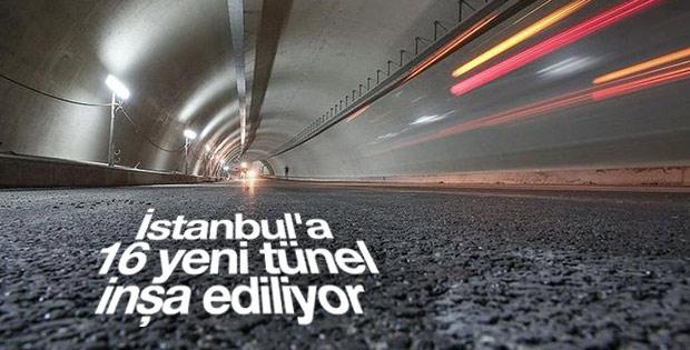 İstanbul'a 16 yeni tünel inşa ediliyor