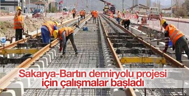 Sakarya-Bartın demiryolu projesi için çalışmalar başladı
