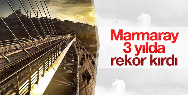 Marmaray 3 yılda 165 milyon yolcu taşıdı