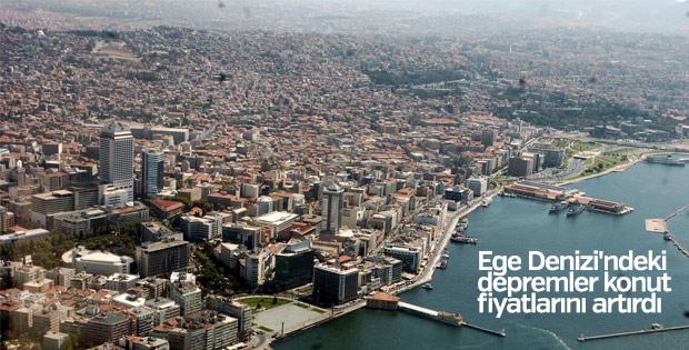 Ege Denizi'ndeki depremler konut fiyatlarını artırdı