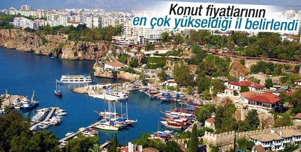 Antalya konut fiyatlarında rekor artış