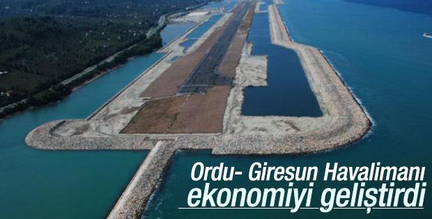 Ordu-Giresun Havalimanı Ordu ekonomisini geliştirdi
