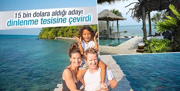 15 bin dolara aldığı adayı cennete çevirdi