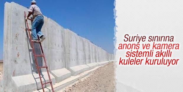 Suriye sınırına akıllı kuleler inşa ediliyor