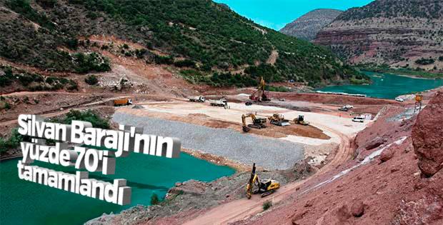 Silvan Barajı'nın yüze 70'i tamamlandı
