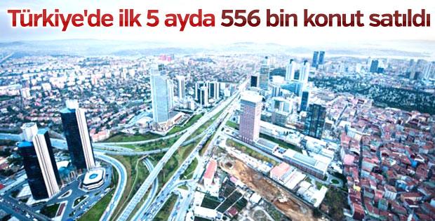 Türkiye'de 5 ayda 556 bin konut satıldı