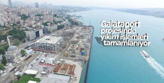 Galataport projesinde yıkım işlemleri tamamlanıyor