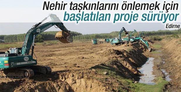 Kanal Edirne projesi tüm hızıyla devam ediyor