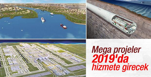 İstanbul'un mega projeleri 2019'da hizmete sunulacak