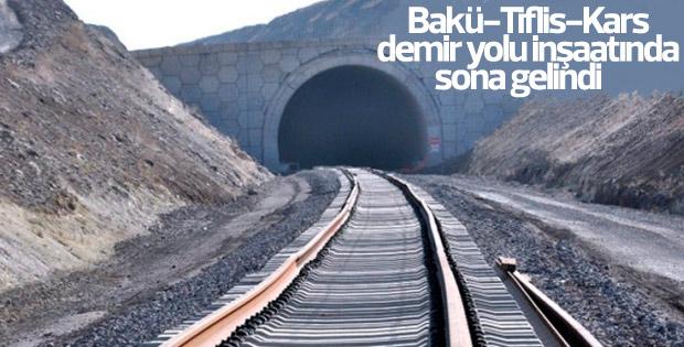 Bakü-Tiflis-Kars demir yolu inşaatında sona gelindi