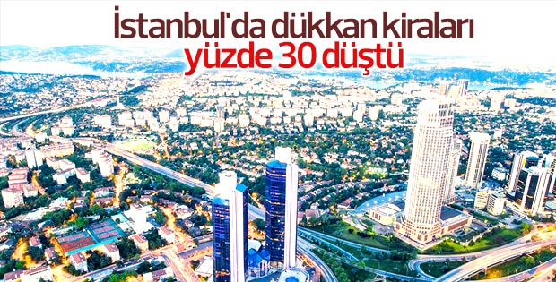 İstanbul'da dükkan kiraları düştü