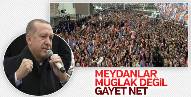 Cumhurbaşkanı Erdoğan'a Düzce'de coşkulu karşılama