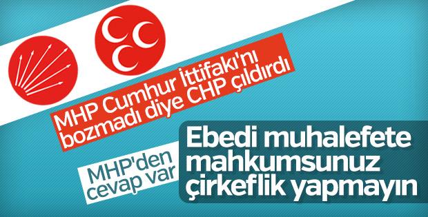 MHP-AK Parti ittifakını çekemeyen CHP'ye cevap