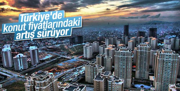 Türkiye'de konut fiyatları artıyor