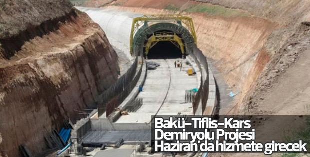 Bakü-Tiflis-Kars Demiryolu haziran ayında açılacak