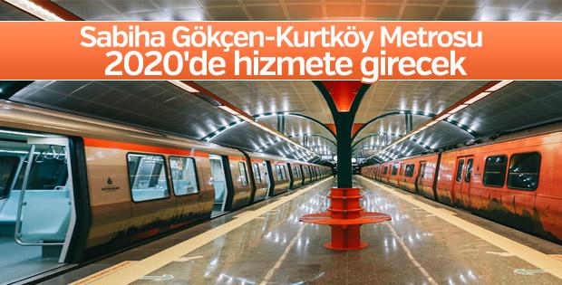 Sabiha Gökçen-Kurtköy Metrosu 2020'de açılacak